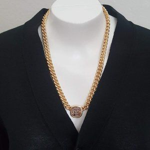 Like new! Louis Vuitton Silver/Gold ID Necklace